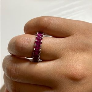 Pink diamond colored band ring